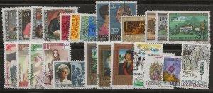 Lkiechtenstein 1984-5. Used sets,  few singles
