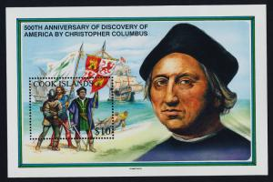 Cook Islands 1107A Christopher Columbus, Flags, Ships