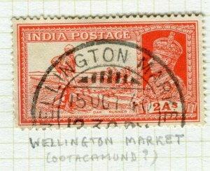 INDIA; POSTMARK fine used cancel on GV issue, Wellington Market