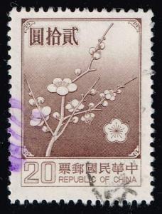 China ROC #2154 Plum Blossoms; Used (0.25)
