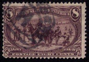 US Sc 289 Used 8c Violet Brown Fine