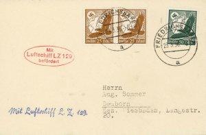 Card Hindenburg 1936 Airmail Germany Wiesbaden Test Flight  LZ 129 Fascism