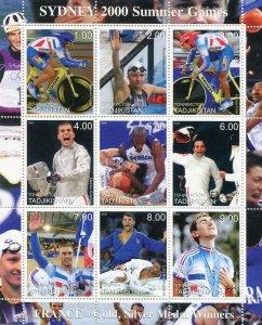 Tajikistan 2000 Sydney OLYMPIC BICYCLE JUDO Sheet Perforated Mint (NH)