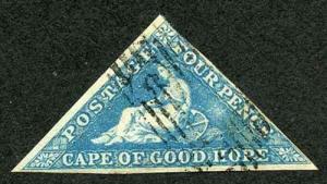 COGH SG4a DLR Four Pence Blue light blued paper
