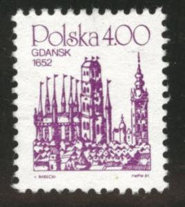 Poland Scott 2456 Mint no gum 1981 stamp