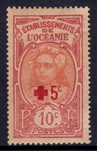 French Polynesia - Scott #B4 - MH - Heavily toned, glazed gum - SCV $5.50