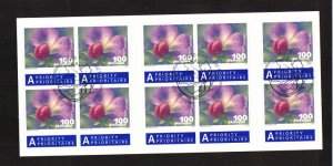 Switzerland   #1415a  cancelled  2011  10 x 100c  flower self-adhesive booklet