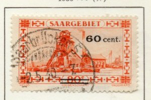 Saar 1930 Early Issue Fine Used 60c. NW-121964