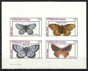 Eynhallow, 1982 Scotland Local issue. Butterfly IMPERF sheet. E9