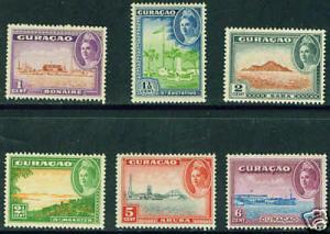 Netherlands Antilles Curacao Scott 164-9 MH* CV $3.3