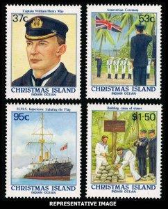 Christmas Island Scott 214-217 Mint never hinged.