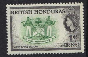 British Honduras 1953 MH 1ct   #