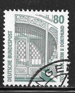 Germany 1528: 80pf Main entrance of the mine Zollern II, Dortmund, used, VF