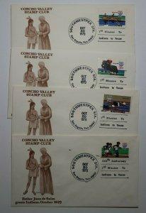 SouthWestpex TX 1979 Father Juan De Salas Expo Concho Valley Stamp club cachet