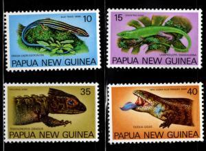 PNG Papua New Guinea Scott 478-481 MNH** Lizard set
