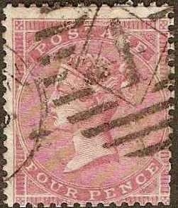 GB - #26 -Used- 1857 - Victoria - 4p - SCV-125.00