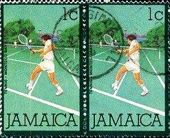 Tennis, Montego Bay, Jamaica stamp SC#465 used Pair