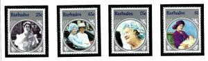 Barbados 660-63 MNH 1985 Queen Mother Birthday