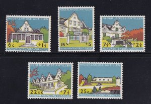 Netherlands Antilles   #B43-B47   MNH  1959  historic buildings