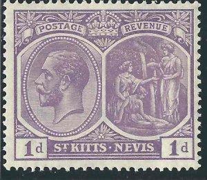 Saint Kitts-Nevis 39 SG 39 MLH VF 1922 SCV $7.50