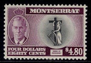 MONTSERRAT GVI SG135, $4.80 black & purple, M MINT. Cat £30.