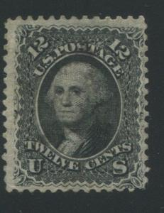1868 US Stamp #85E 12c Used Perf 12 Catalogue Value $2400 Certified