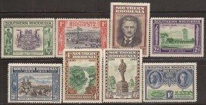 Southern Rhodesia - 1940 Founding Anniversary - 8 Stamp Set MH - Scott #56-63