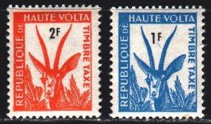 Upper Volta. 1962. 21-22 from the series. Gazelle, port. MNH.