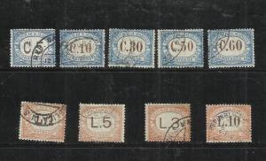 SAN MARINO 1925 SEGNATASSE SERIE COMPLETA TIMBRATA