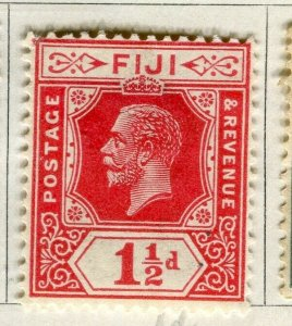 FIJI; 1922-27 early GV issue fine Mint hinged 1.5d. value