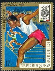 Running, 19th Olympic Games, Mexico City, Burundi SC#C89 used