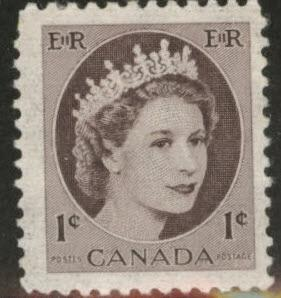CANADA Scott 337p  MNH** 1962 Tagged QE2 CV$1.10