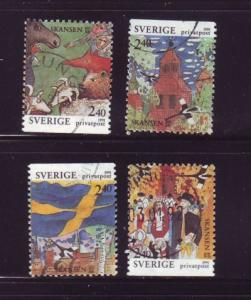 Sweden Sc1883-6 1991 Skansen Park stamps used