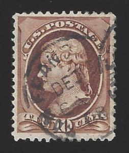 US #209 1881-82 Brown Perf 12 Used VF