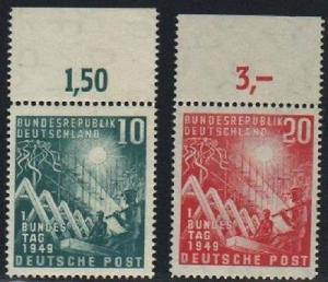 Germany #665-6 with tab Mint   VF NH   -  Lakeshore Phila...