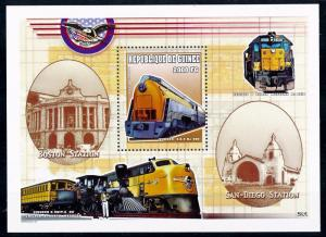 [63405] Guinea 2000 Railway Train Eisenbahn Chemin de Fer Souvenir Sheet MNH