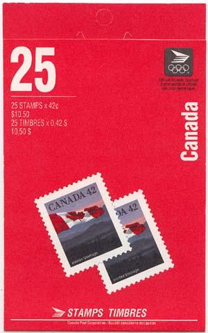 Canada - 1991 42c Flag Pane of 25 Complete Booklet #BK138b