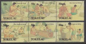 Tokelau Sc#172-177 MNH in Strips