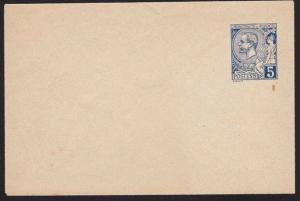 MONACO Early small size 5c envelope unused.................................9470