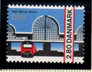 Denmark Sc 821 1986 Hoje Tastrup RR Station Opening stamp mint NH