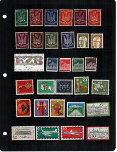 Germany  31  different  MNH mint never hinged