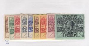 BERMUDA # 71-79 VF-MH KGV ISSUES CAT VALUE $120+