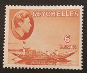 Seychelles Scott 128 KGVI 6 Cent-Mint