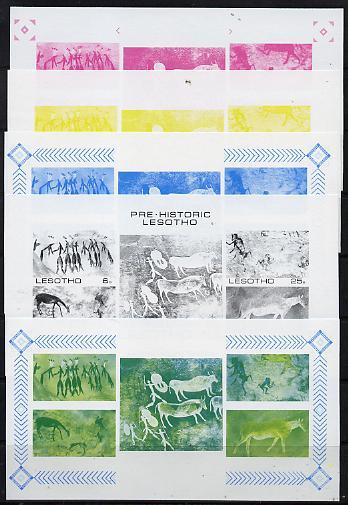 Lesotho 1983 Rock Paintings m/sheet the set of 5 imperf p...