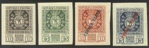 SPAIN #572//C29 Mint LH - 1936 Madrid Arms Set