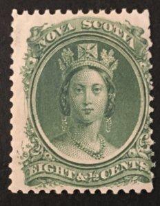 Nova Scotia Scott 11 Queen Victoria 8 1/2 Cent Cent-Mint NH