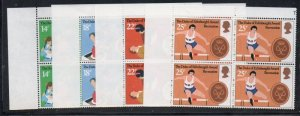 Great Britain Sc 951-5 1981 Duke's Awards stamp set blocks of 4 mint NH