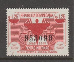 Dominican Rep revenue Cinderella stamp 6-2-2b tnx mint