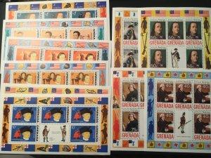 ICOLLECTZONE Grenada #628-33, C29-32 VF NH Complete 10 Sheets
