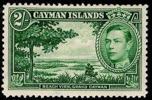 CAYMAN ISLANDS SG124, 2s yellow-green, M MINT. Cat £55. p12½